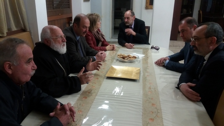FM Karen Mirzoyan met with Archbishop Komitas Ohanian